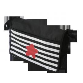 bolso carrito negro estrella roja